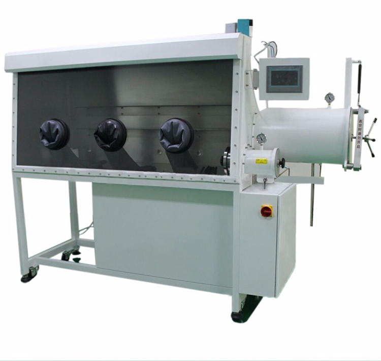 Three Gloves Vacuum Glove Box Price with Gas Purify System