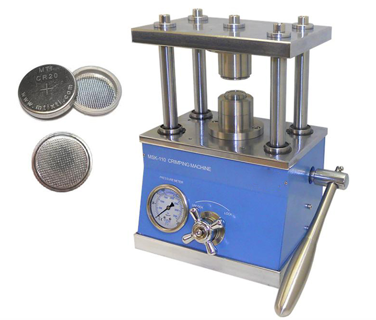 Manual Hydraulic Coin Cell Crimping Machine for All Kinds of Coin Cells