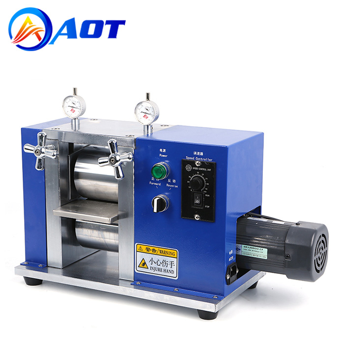 Electric Battery Electrode Sheets Calendering Machine Lab Roller Press