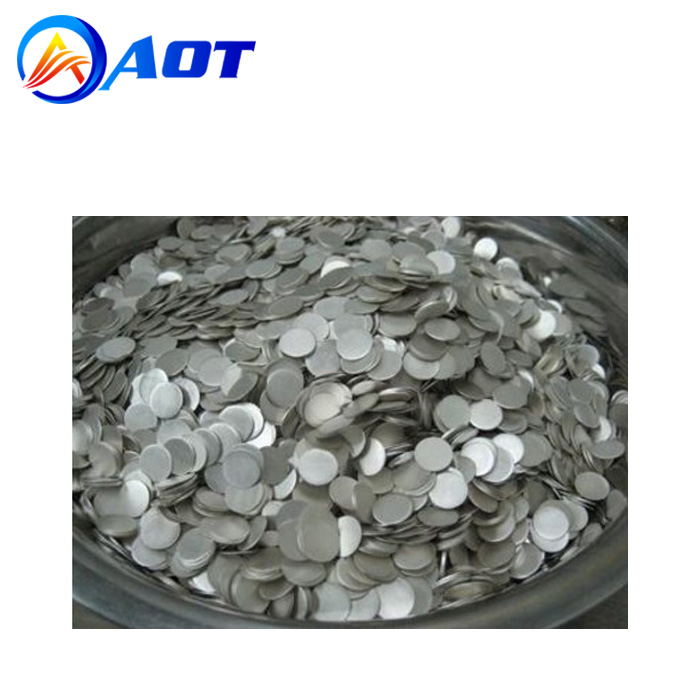 99.9% Purity Battery Grade Lithium Metal Chips for Lab Coin Cell Research