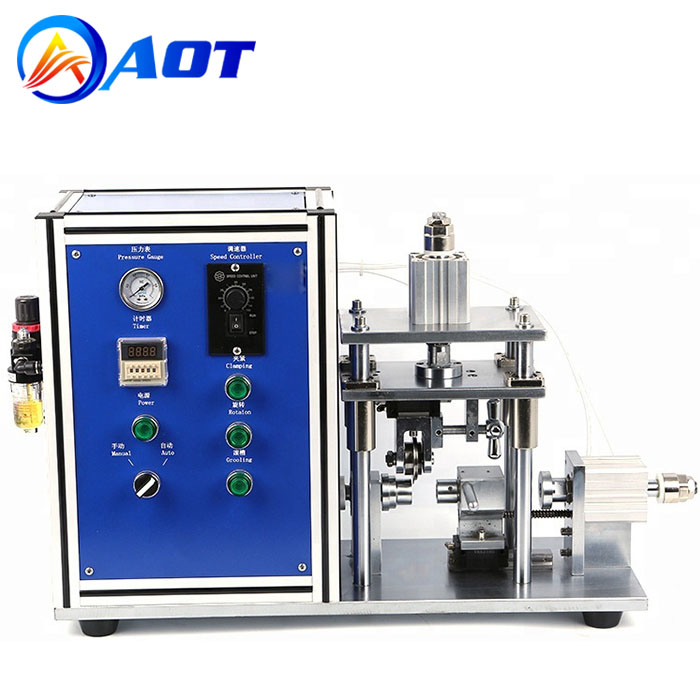Semi-automatic Cylindrical Battery Caes Grooving Machine For 18650 21700 26650 32650