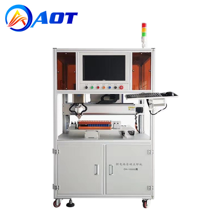 Single Side Cylindrical Battery Spot Welder Machine with Rotary Welding Head