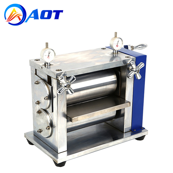 Manual Lab Roller Press Machine for Lithium ion Battery Electrode Calendering