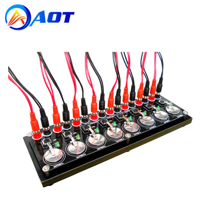 8 Channels Button Cell Testing Clips Test Board for Coin Cell Analyzers
