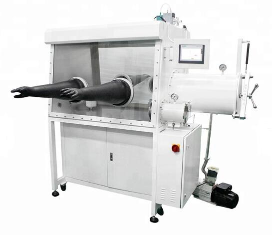 Vacuum Glove box with purification system for lithium battery lab research